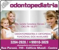 CIRURGIÃO DENTISTA LUCIELE CENEDESE GERAM / ODONTOPEDIATRA