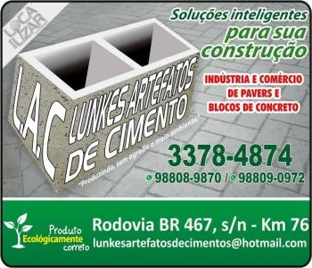 LUNKES ARTEFATOS DE CIMENTO