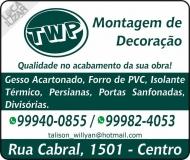 TWP MONTAGEM DE DECORAÇÃO