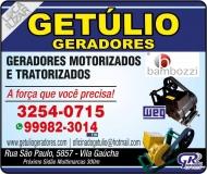 GETÚLIO GERADORES MOTORIZADOS / TRATORIZADOS