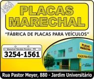 MARECHAL PLACAS PARA VEÍCULOS