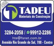 TADEU MATERIAIS DE CONSTRUÇÃO