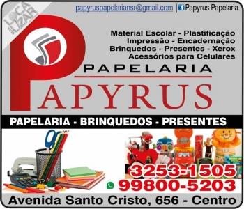 PAPYRUS LIVRARIA / PAPELARIA