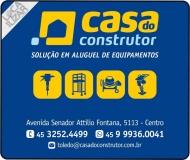 CASA DO CONSTRUTOR ALUGUEL DE EQUIPAMENTOS LOCADORA