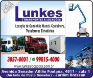 LUNKES TRANSPORTES / LOCAÇÃO DE CAMINHÃO MUNCK