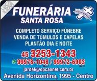 SANTA ROSA FUNERÁRIA SERVIÇOS FÚNEBRES / TÚMULOS E CAPELAS