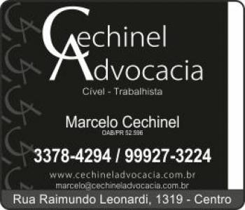 MARCELO CECHINEL ADVOCACIA oab/pr 52.596