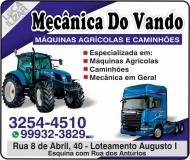 VANDO MECÂNICA DE MÁQUINAS AGRÍCOLAS E DIESEL
