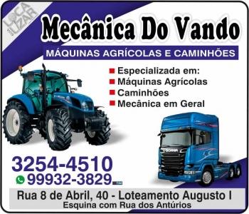 VANDO AUTOMECÂNICA MÁQUINAS AGRÍCOLAS CAMINHÕES E TRATORES