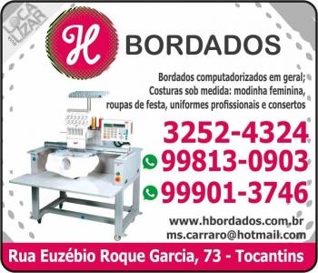 H BORDADOS E COSTURAS