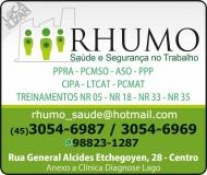 RHUMO SAÚDE MEDICINA E SEGURANÇA DO TRABALHO CLÍNICA