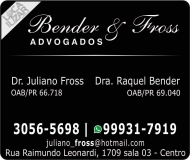 ADVOCACIA JULIANO FROSS / DIREITO FAMÍLIA E PENAL / BENDER E FROSS