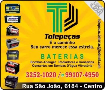 TOLEPEÇAS AUTOELÉTRICA BATERIAS / RADIADORES