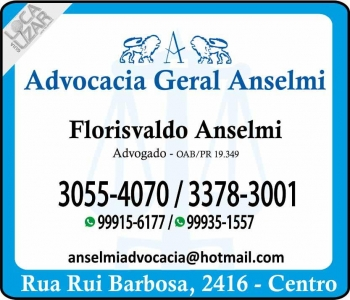 FLORISVALDO ANSELMI ADVOCACIA GERAL oab/pr 19.349