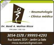 CLÍNICA DE REUMATOLOGISTA RENÊ A. MATTOS RICCA / FIBROMIALGIA / LÚPUS / ARTRITE