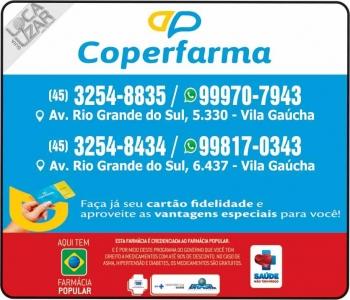 COPERFARMA FARMÁCIA / MEDILAR FARMÁCIA MEDICAMENTOS E PERFUMARIAS / DISK REMÉDIOS