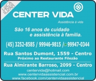 CENTER VIDA PLANO FUNERAL E ASSISTENCIAL
