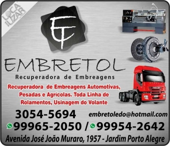 EMBRETOL RECUPERADORA DE EMBREAGENS MECÂNICA