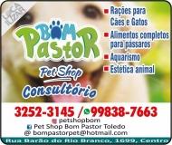 BOM PASTOR CLÍNICA VETERINÁRIA E PET SHOP / CONSULTÓRIO E AQUARISMO