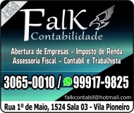 FALK CONTABILIDADE E ASSESSORIA EMPRESARIAL / ESCRITÓRIO CONTÁBIL
