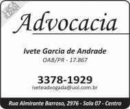 ADVOCACIA IVETE GARCIA DE ANDRADE / DIREITO PREVIDENCIÁRIO