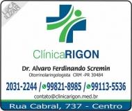 CLÍNICA DE OTORRINOLARINGOLOGISTA ALVARO FERDINANDO SCREMIN / DISTÚRBIO DE NARIZ / OUVIDO E GARGANTA / RIGON