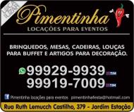 PIMENTINHA LOCAÇÕES DE ARTIGOS PARA EVENTOS / BRINQUEDOS