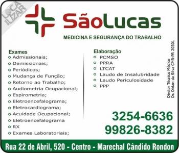 CLÍNICA SÃO LUCAS SEGURANÇA E MEDICINA DO TRABALHO