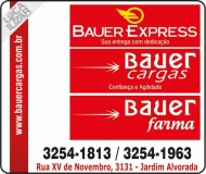 BAUER CARGAS TRANSPORTES E ENCOMENDAS<br>BAUER EXPRESS TRANSPORTADORA