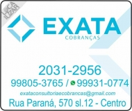 EXATA CONSULTORIA / COBRANÇAS