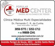 CLÍNICA MÉDICA GERAL POPULAR MED CENTER / CONSULTAS E PLANO DE SAÚDE