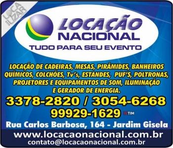 NACIONAL LOCAÇÃO DE EQUIPAMENTOS PARA EVENTOS