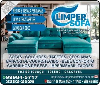 LIMPER SOFÁ LIMPEZA PROFISSIONAL / LAVAGEM / IMPERMEABILIZAÇÃO