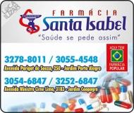 SANTA ISABEL FARMÁCIA MEDICAMENTOS E PERFUMARIAS / DISK REMÉDIOS