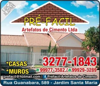 PRÉ-FACIL ARTEFATOS DE CIMENTO