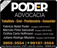PODER ADVOCACIA ADVOGADOS ASSOCIADOS DIREITO TRABALHISTA / CÍVEL