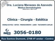 Cartão: CLÍNICA DE DERMATOLOGIA LUCIANA MENEZES DE AZEVEDO DRA. DERMATOLOGISTA