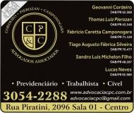ADVOCACIA GEOVANNI CORDEIRO / DIREITO TRABALHISTA E PREVIDENCIÁRIO / CORDEIRO / PIEROZAN E CAMPONOGARA