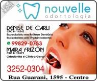 CIRURGIÃO DENTISTA DENISE DE CARLI / IMPLANTODONTISTA / NOUVELLE