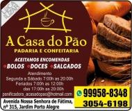 A CASA DO PÃO PANIFICADORA / CONFEITARIA