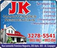 JK MANUTENÇÕES RESIDENCIAIS / ENCANADOR E ELETRICISTA