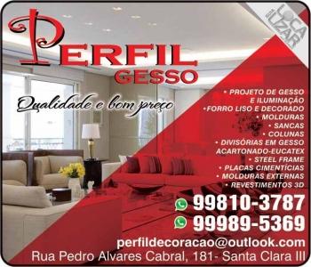 PERFIL GESSO / DECORAÇÕES