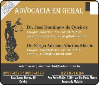 JOSÉ DOMINGOS DE QUEIROZ ADVOCACIA DIREITO TRABALHISTA / CÍVEL oab/pr 11.211