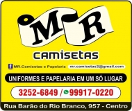 MR CAMISETAS UNIFORMES PROFISSIONAIS E ESCOLARES