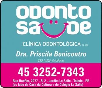 CIRURGIÃO DENTISTA PRISCILA BONICONTRO / ORTODONTISTA / ODONTO SAÚDE
