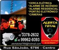 ALERTA TOTAL ELETRICISTA /  INSTALAÇÃO ALARMES / PORTÕES ELETRÔNICOS