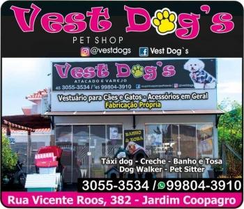 VEST DOG'S PET SHOP / PET SITTER / DOG WARKER / FABRICAÇÃO VESTUÁRIOS