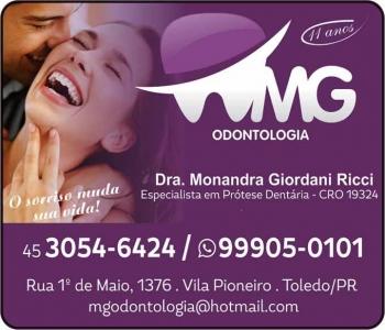 CIRURGIÃO DENTISTA MONANDRA GIORDANI RICCI / IMPLANTODONTISTA / MG