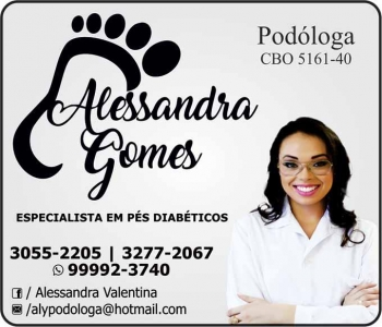 ALESSANDRA GOMES PODÓLOGA / PODOLOGIA