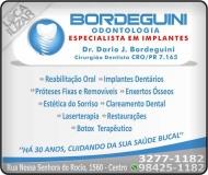 CIRURGIÃO DENTISTA DARIO JOSÉ BORDEGUINI / IMPLANTODONTISTA